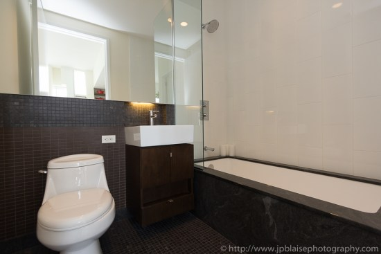 Professionally shot bathroom in Two-Bedroom – Two-Bathroom Luxury Condominium in Long Island City, Queens
