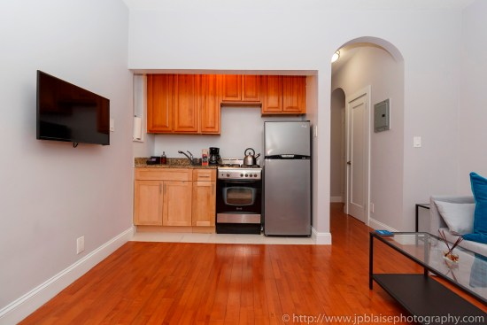 NY apartment photographer Lower East Side one bedroom real estate interior photography kitchen