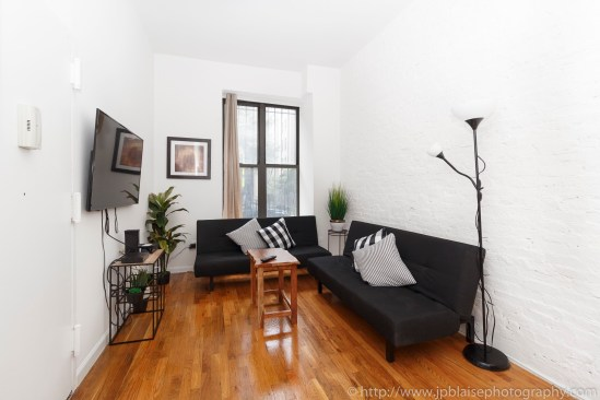 NY apartment photographer real estate interior Harlem living room