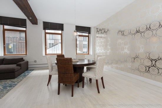 NYC apartment photographer work one bedroom condo in chelsea manhattan dining