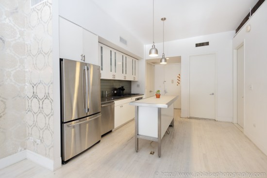 NYC apartment photographer work one bedroom condo in chelsea manhattan kitchen counter