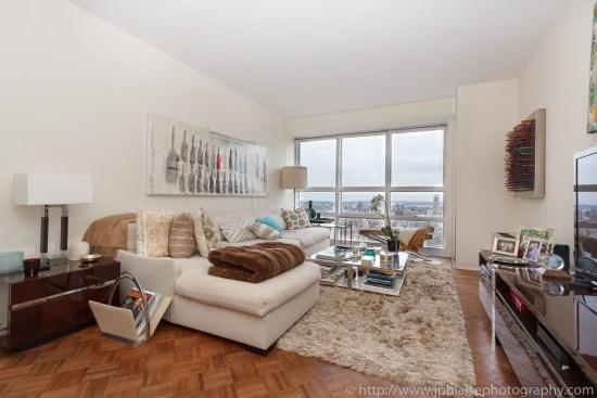 New York City apartment photographer one bedroom Midtown living area