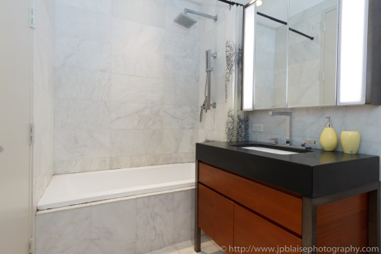 New York City apartment photographer studio financial district ny bathroom