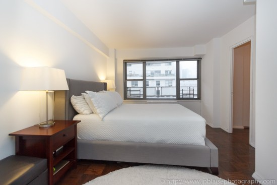 New York City apartment photographer two bedroom unit on the Upper East Side master bedroom