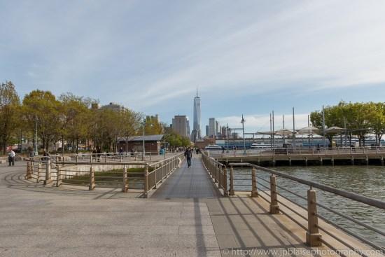 New York Photographer One world trade center and hudson river park