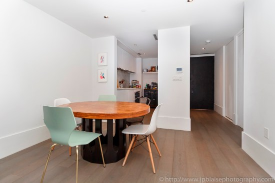 New york apartment photographer real estate interior bedroom Williamsburg Brooklyn ny nyc dining