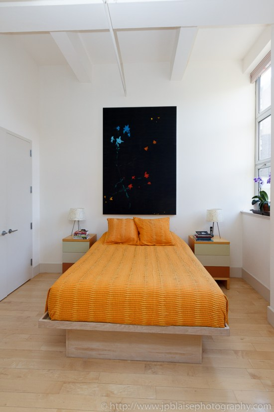 Bedroom of Williamsburg property, picture from nyc apartment photographer