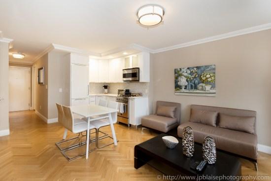 Real Estate photography new york one bedroom apartment on upper east side
