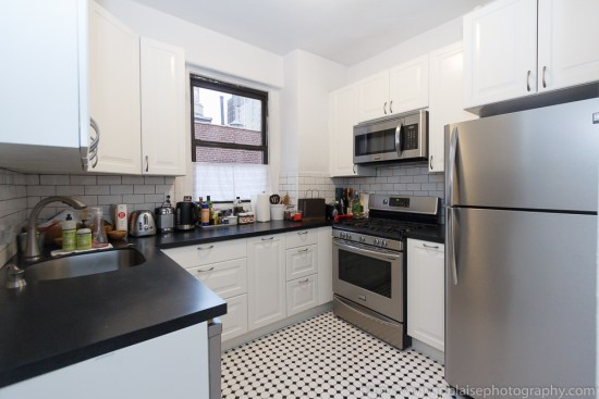 Interior photography work: updated kitchen in Chelsea, New York City
