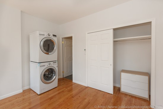 Real estate photography new york brooklyn renovated studio closet washer dryer
