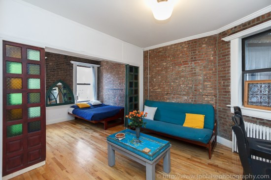 Real Estate photography of a Soho living room in Manhattan New York City