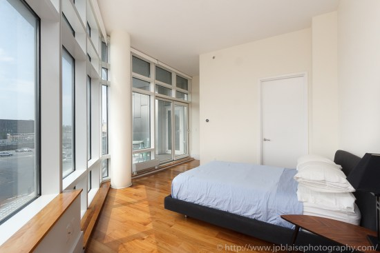 Large bedroom with views in Long Island City apartment