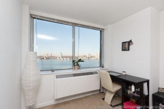 Desk in bedroom, interior photography new York