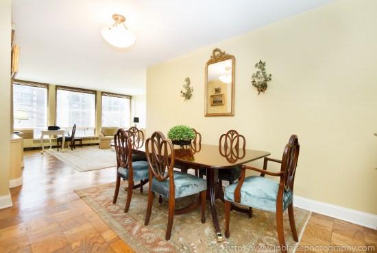 apartmen -photographer real estate nyc one bedroom midtown east manhattan interior design dining area