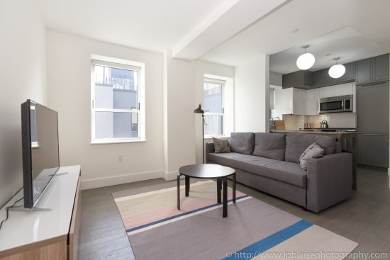 new york city apartment photographer midtown west living room