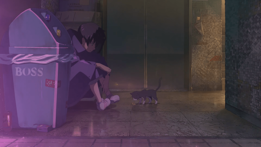 Hodaka and Cat in Weathering With You