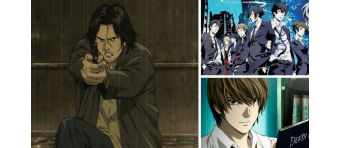 Best detective anime image with death note and monster on the cover