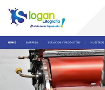 Slogan Litografía web