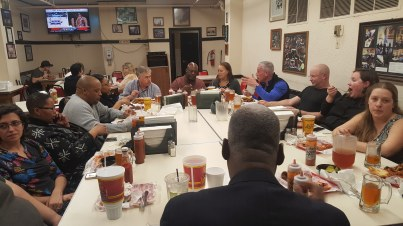 Boston Main Streets Directors at Arthur Bryant BBQ in Kansas City, Missouri.