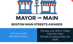 Mayor on Main Boston Main Streets Awards