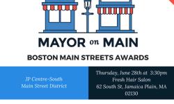 Mayor on Main Boston Main Streets Awards