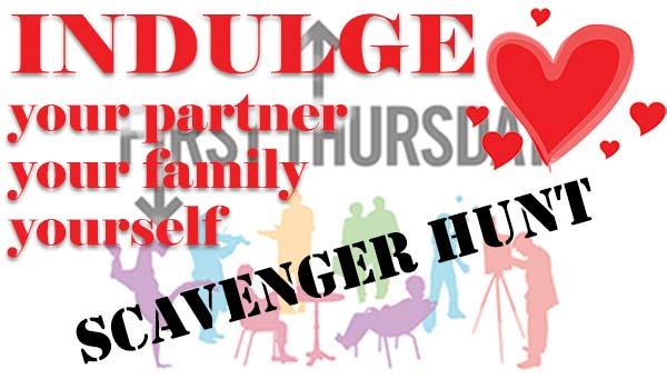 Logo for First Thursday Scavenger Hunt