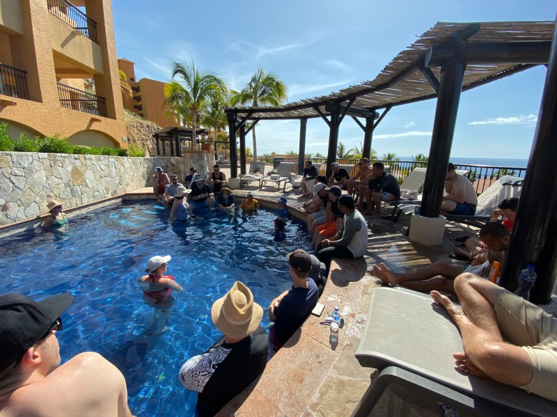 Poolside conference
