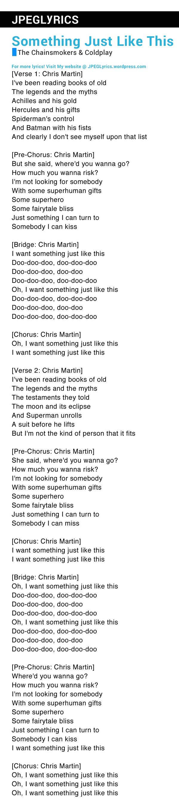 Makna Lagu Something Just Like This : makna, something, Lirik, Something