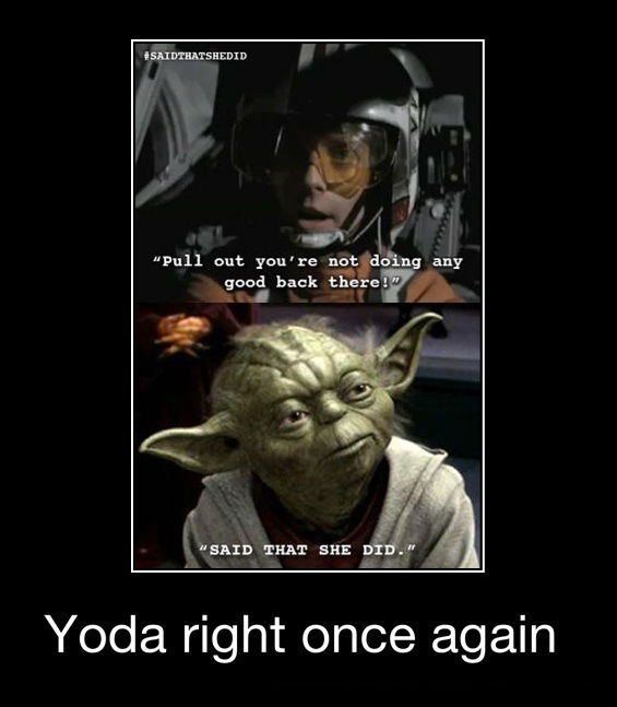 Yoda right once again  JPEGY  What the Internet was
