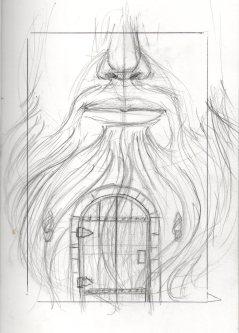 Prelimanary sketch for my Blue Beard illustration