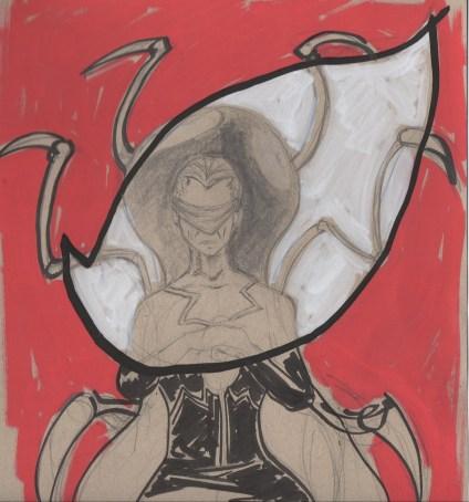 Fan art marker sketch of Madam Web