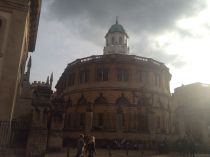 Grahame is checking out the 1668 Sheldonian Theater.