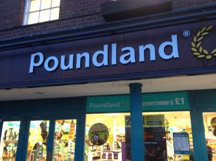 And England's answer to the dollar store. Shakespeare would have a field day with some bawdy puns on this one.