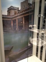 Even a shower with a mural of the Roman Baths. Maybe not period, but cool as hell!