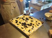 Local black olive focaccia that we poured the local olive oil on. Heaven.