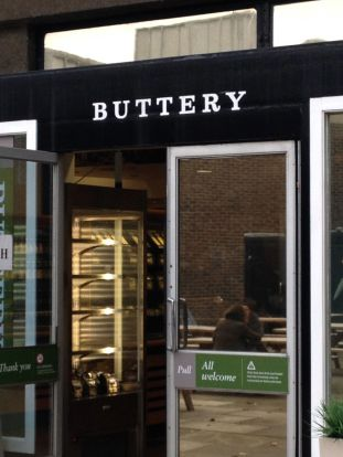The buttery, where I'd grab an afternoon tea and scone after studying in the library.