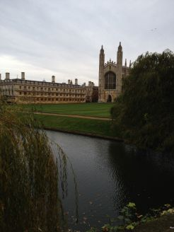 Welcome to idyllic Cambridge where I studied many moons ago and walked the backs to dinner every day.