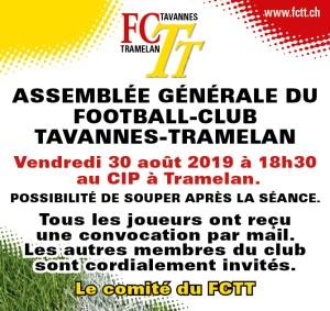 Assemblée Générale du FCTT 2019