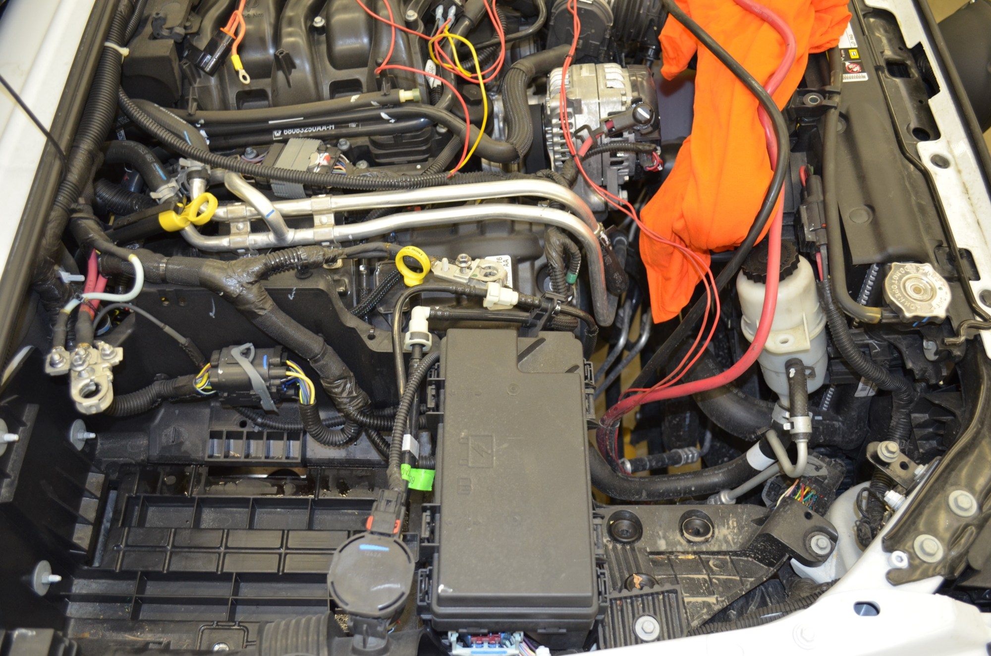 hight resolution of preparing to install the dual battery system 2012 jku next we removed the fuse box 2012 wrangler