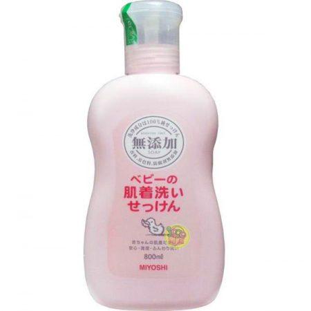 日本製 MIYOSHI 無添加 嬰幼兒衣物洗衣精 洗衣劑 800ml | 日本網路購物 JPGO