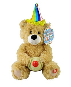 "Singing Plush Birthday Bear - ""Happy Birthday"""