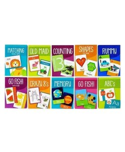 Kids Card Games - 10 Pack of Cards