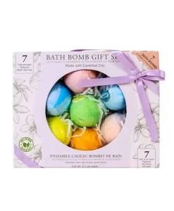 Bath Bomb Gift Set - 7 Handmade and Natural