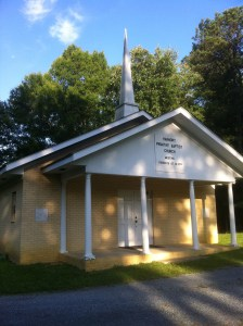 Harmony Primitive Baptist Church, Calhoun, Georgia. Photograph by Judy Mincey, June 4, 2012.