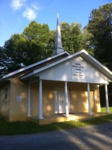 Harmony Primitive Baptist Church, Calhoun, Georgia. Photograph by Judy Mincey, June 4, 2012.