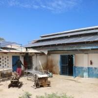 Solar array at hospital