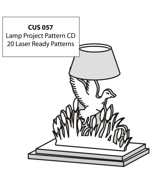 LaserBits CorelDRAW Design Patterns (Lamp Projects)