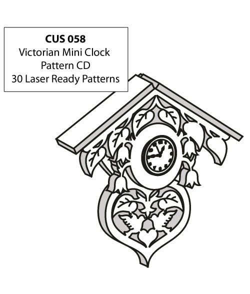 LaserBits CorelDRAW Design Patterns (Victorian Mini Clocks)
