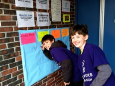 Check out Junior Coaches Matt and Erik signing our pledge to be healthy, get active, and feel good about yourself.