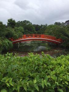 神泉苑 橋と池